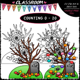 (0-20) Counting Spiders - Sequence, Counting & Math Clip A