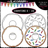 (0-20) Counting Sprinkles - Sequence, Counting & Math Clip