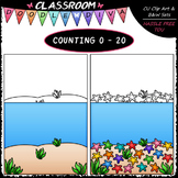 (0-20) Counting Starfish - Sequence, Counting & Math Clip