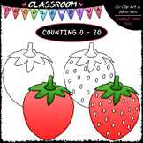 (0-20) Counting Strawberry Seeds - Sequence, Counting & Ma