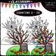 (0-20) Halloween Counting Clip Art & B&W Bundle 1 (4 Sets)