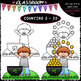 (0-20) St. Patrick's Day Counting - Clip Art & B&W Bundle 1 (4 Sets)