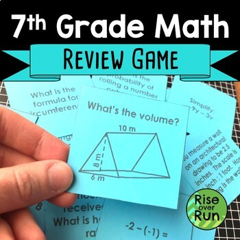 7th Grade Math End of Year Review Game
