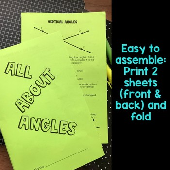 Angle Relationships Booklet including Sum of Interior Angles