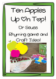 Ten Apples Up On Top! Activities