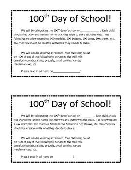 !00 days of school