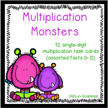 Monster Multiplication: Task Cards