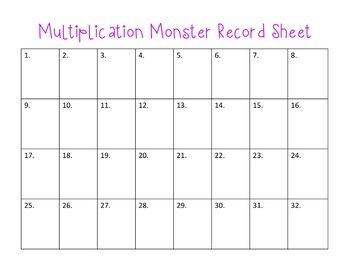 Monster Multiplication: Task Cards