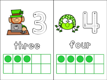 St. Patrick's Day Ten Frames for Pre-K/Preschool/Kindergarten