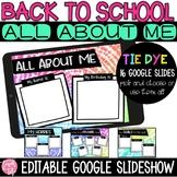 Meet the Teacher All About Me Google Slides