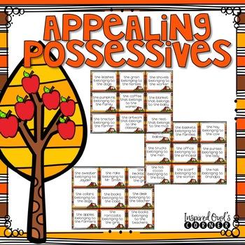 Fall Themed Singular and Plural Possessive Nouns Task Cards