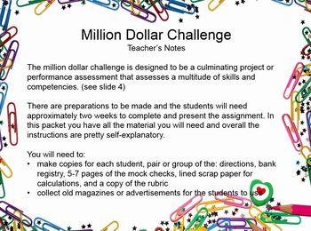 $1,000,000.00 Math Challenge