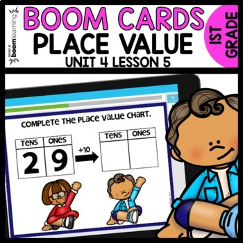 +1, -1, +10, -10 BOOM CARDS | DIGITAL TASK CARDS | Module 4 Lesson 5