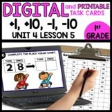 +1, -1, +10, -10 | DIGITAL TASK CARDS | PRINTABLE TASK CARDS
