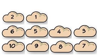 #1-10 Cloud and Rain Drop File Folder Matching