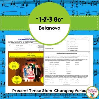 """1-2-3 Go"" & Present Tense Stem Changing Verbs"