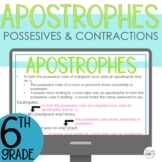 Apostrophes Contractions and Possessive Digital Google Slides