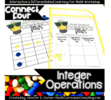 Connect Four Integer Operations Game | Positive and Negative Integer Operations