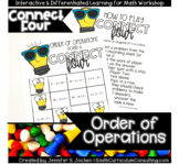 *1/2 OFF 24 HRS* Connect Four Order of Operations Game - O