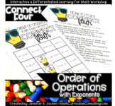 Connect Four Order of Operations with Exponents Game   TEKS 6.7a   Math Station