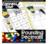 Connect Four Rounding Decimals Game   Rounding Decimals   TEKS 5.2c