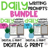 Daily Writing Prompts Digital and Print BUNDLE Distance Learning