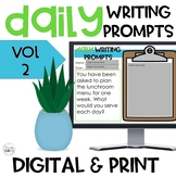 Daily Writing Prompts Digital and Print Volume 2 Distance