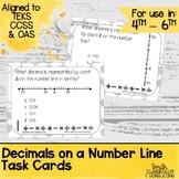 Decimals on a Number Line Task Cards | TEKS 4.2h | TEKS 6.4f