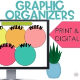Digital Graphic Organizers Google Classroom Distance Learning