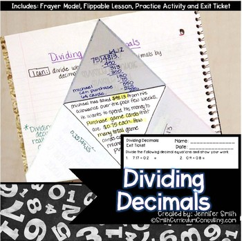 Dividing Decimals with Estimation Lesson for Interactive Notebooks | TEKS 5.3g