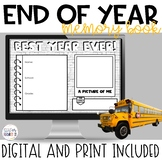 End of Year Memory Book   Digital and Print   Distance Learning