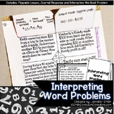 Interpreting Word Problems Lesson for Interactive Notebooks