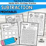 Math Fact Fluency Subtraction Printables - Karate Theme