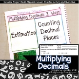 Multiplying Decimals with Estimation for Interactive Notebooks | TEKS 5.3e