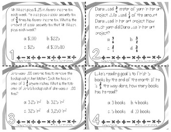 Multiplying Fractions Task Cards | TEKS 5.3i | Math Intervention