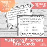 Multiplying Fractions Task Cards   TEKS 5.3i   Math Intervention