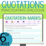 Quotation Marks Punctuating Dialogue Interactive Digital G