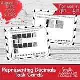 Representing Decimals Task Cards   TEKS 4.2e   TEKS 5.2a   TEKS 6.4e   Test Prep