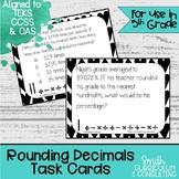 Rounding Decimals Task Cards | TEKS 5.2c | Math Station