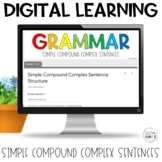 Simple Compound Complex Sentences Self-Grading Quiz | Google Apps