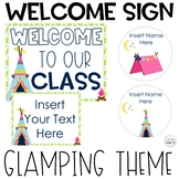 Welcome To Our Classroom   Glamping Cute Camping Classroom Decorations