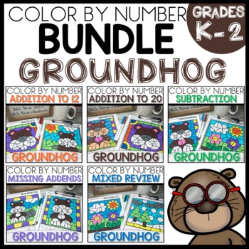 Color by Number GROUNDHOG DAY THEMED BUNDLE