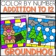 Color by Number GROUNDHOG DAY Worksheets ADDITION TO 12