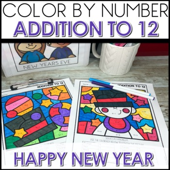 Color by Number NEW YEARS EVE THEMED BUNDLE