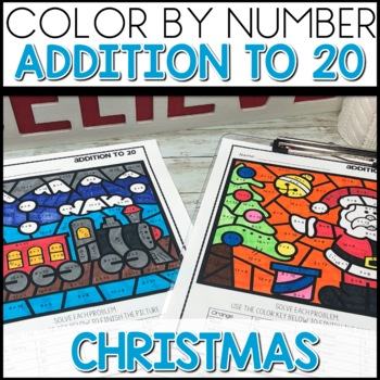 Color by Number POLAR EXPRESS Worksheets ADD UP TO 20