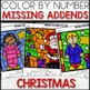 Color by Number POLAR EXPRESS Worksheets MISSING ADDENDS
