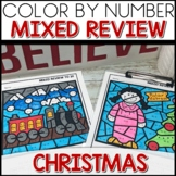 Color by Number POLAR EXPRESS Worksheets MIXED UP TO 20
