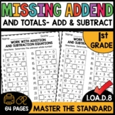 Missing Addends Addition and Subtraction Math Worksheets G