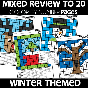 MYSTERY PICTURES WINTER Worksheets MIXED UP TO 20