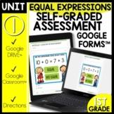 Math Self-Grading Assessments Equal Expressions Module 1 L